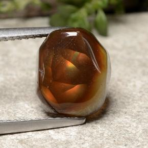 Multicolor Fire Agate Gem - 4.4ct Fancy Cabochon (ID: 488289)