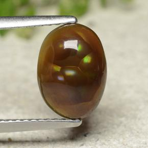 Multicolor Fire Agate Gem - 2.4ct Oval Cabochon (ID: 490517)