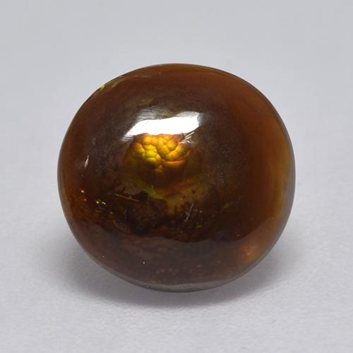 Multicolor Fire Agate Gem - 2.8ct Round Cabochon (ID: 530494)