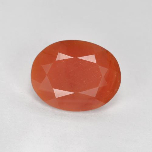 1ct Oval Facet Reddish Orange Fire Opal Gem (ID: 366894)