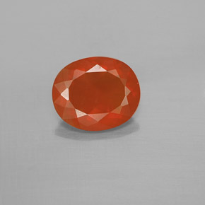 1.3ct Oval Facet Reddish Orange Fire Opal Gem (ID: 367135)