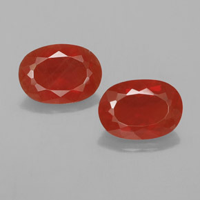 Reddish Orange Fire Opal Gem - 1.2ct Oval Facet (ID: 367173)