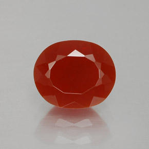 Fire Red Fire Opal Gem - 1.5ct Oval Facet (ID: 367307)