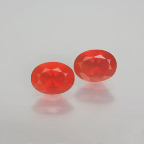 Reddish Orange Fire Opal Gem - 0.9ct Oval Facet (ID: 369517)