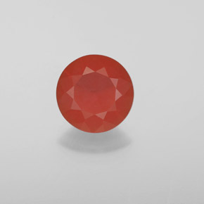 Reddish Orange Fire Opal Gem - 1.2ct Diamond-Cut (ID: 369575)