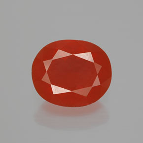 Medium Red Fire Opal Gem - 2.7ct Oval Facet (ID: 369758)