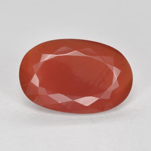 2.53 ct Oval Facet Lipstic Red Fire Opal Gemstone 12.53 mm x 8.2 mm (Product ID: 370403)