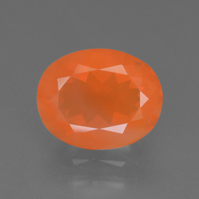Medium Orange Fire Opal Gem - 2.6ct Oval Facet (ID: 370405)