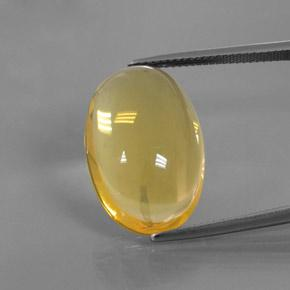 Yellow Fire Opal Gem - 15.8ct Oval Cabochon (ID: 380401)
