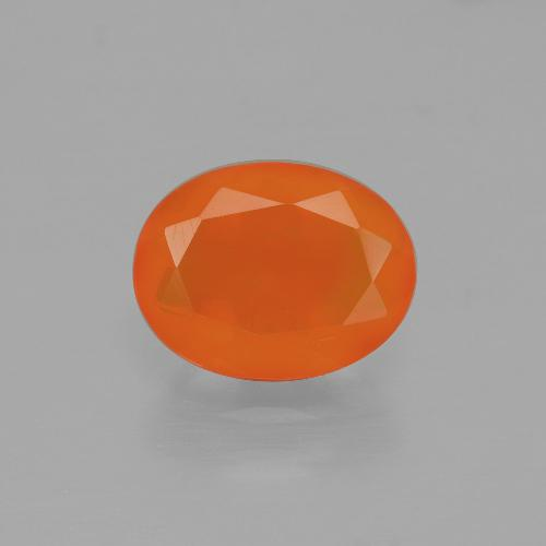 1.2ct Oval Facet Orange Fire Opal Gem (ID: 405204)
