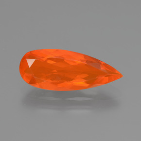 1.90 ct Pear Facet Orange Fire Opal Gemstone 16.54 mm x 6.6 mm (Product ID: 431142)