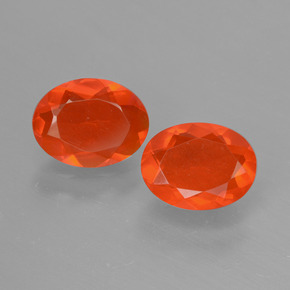 Orange Fire Opal Gem - 0.6ct Oval Facet (ID: 431902)