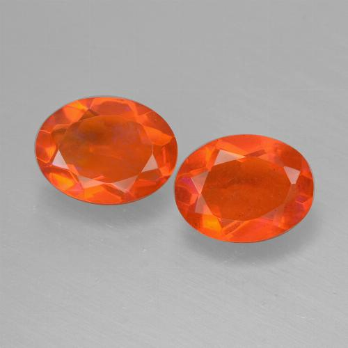 0.7ct Oval Facet Orange Fire Opal Gem (ID: 431934)