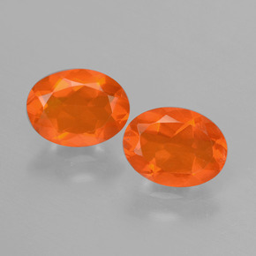 0.7ct Oval Facet Orange Fire Opal Gem (ID: 431940)