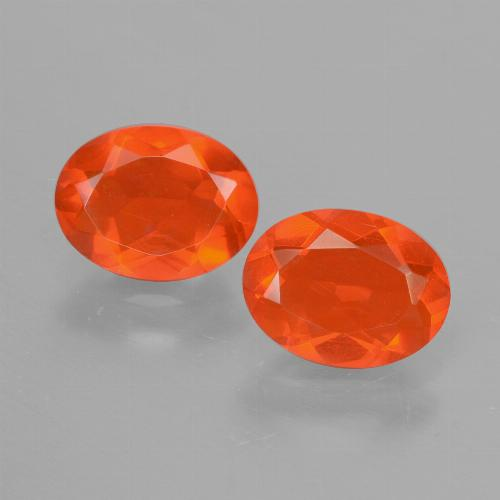 0.70 ct Oval Facet Orange Fire Opal Gemstone 8.18 mm x 6.1 mm (Product ID: 431941)
