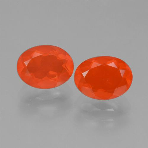 Fire Orange Feueropal Edelstein - 0.8ct Oval facettiert (ID: 431970)