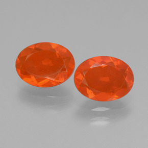 0.76 ct Oval Facet Orange Fire Opal Gemstone 8.18 mm x 6.2 mm (Product ID: 431972)