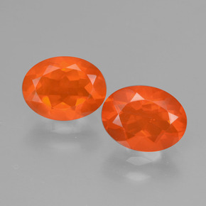 Fire Orange Ópalo de Fuego Gema - 0.8ct Forma ovalada (ID: 432087)