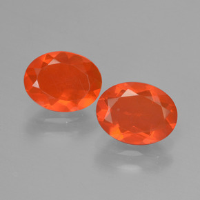 0.7ct Oval Facet Orange Fire Opal Gem (ID: 432089)