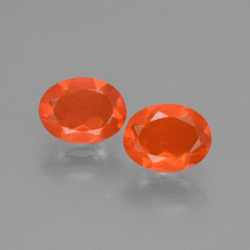 Orange Fire Opal Gem - 0.6ct Oval Facet (ID: 432148)