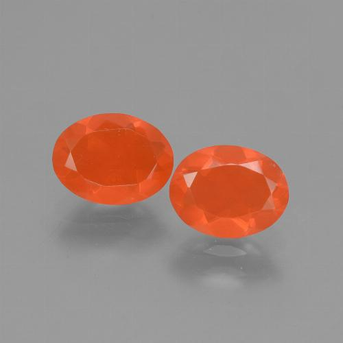 Medium Orange Ópalo de Fuego Gema - 0.7ct Forma ovalada (ID: 432153)