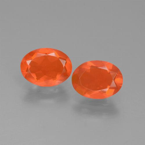 0.7ct Oval Facet Deep Reddish Orange Fire Opal Gem (ID: 432156)