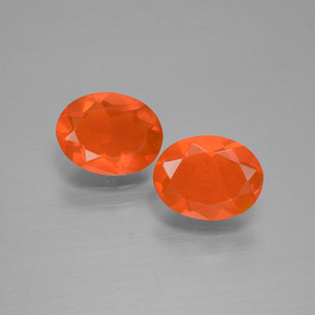 Intense Orange Fire Opal Gem - 0.6ct Oval Facet (ID: 432157)