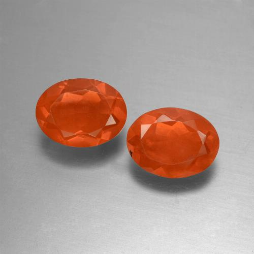 Orange Fire Opal Gem - 0.7ct Oval Facet (ID: 432158)