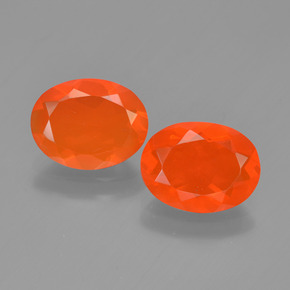 Bright Orange Fire Opal Gem - 0.9ct Oval Facet (ID: 449536)