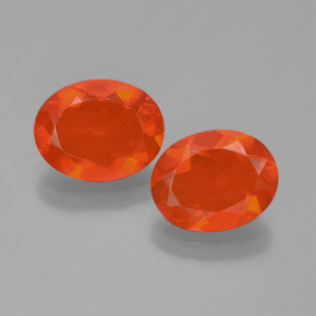 0.9ct Oval Facet Orange Fire Opal Gem (ID: 449555)