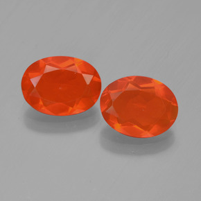 Orange Fire Opal Gem - 0.6ct Oval Facet (ID: 449557)