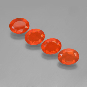 Orange Fire Opal Gem - 0.6ct Oval Facet (ID: 449586)