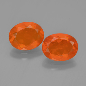 Orange Fire Opal Gem - 1ct Oval Facet (ID: 450411)