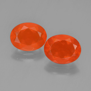 0.9ct Oval Facet Orange Fire Opal Gem (ID: 450412)