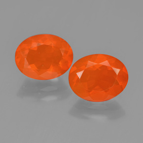 Orange Fire Opal Gem - 1.1ct Oval Facet (ID: 450414)