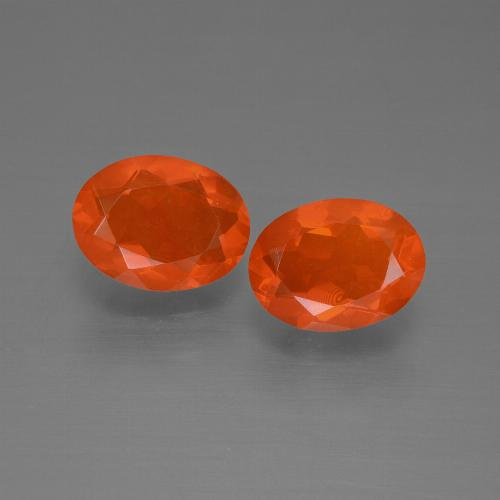 0.8ct Oval Facet Orange Fire Opal Gem (ID: 450464)