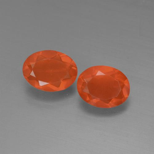 0.7ct Oval Facet Orange Fire Opal Gem (ID: 450467)