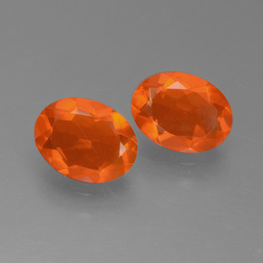 0.8ct Oval Facet Orange Fire Opal Gem (ID: 450548)