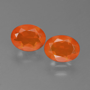 Orange Fire Opal Gem - 0.7ct Oval Facet (ID: 450549)