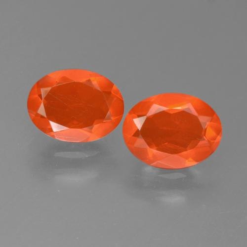 Fire Orange Ópalo de Fuego Gema - 0.7ct Forma ovalada (ID: 450551)