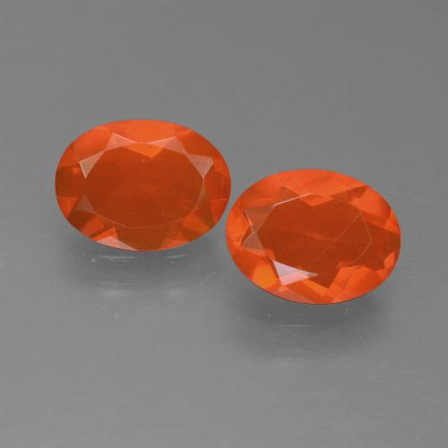 Orange Fire Opal Gem - 0.6ct Oval Facet (ID: 450554)
