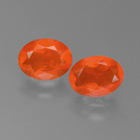 0.8ct Oval Facet Orange Fire Opal Gem (ID: 450555)
