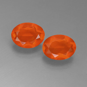 Orange Fire Opal Gem - 0.6ct Oval Facet (ID: 450557)