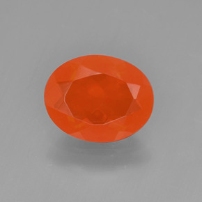 1ct Oval Facet Orange Fire Opal Gem (ID: 450620)