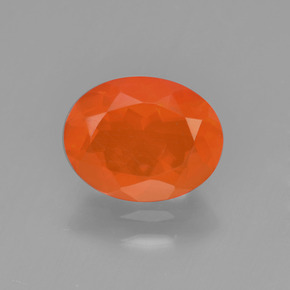 1.1ct Oval Facet Orange Fire Opal Gem (ID: 450629)