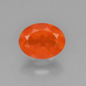 1ct Oval Facet Orange Fire Opal Gem (ID: 450631)