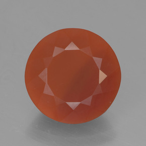 Orange Fire Opal Gem - 2.7ct Round Facet (ID: 450835)