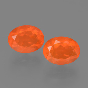 0.9ct Oval Facet Orange Fire Opal Gem (ID: 453905)