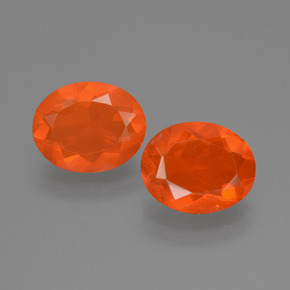 0.9ct Oval Facet Orange Fire Opal Gem (ID: 453909)