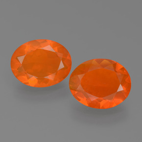 Orange Fire Opal Gem - 0.9ct Oval Facet (ID: 453947)